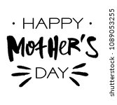 happy mothers day greeting card.... | Shutterstock .eps vector #1089053255