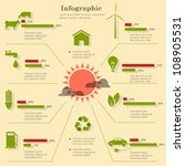 eco infographic elements.... | Shutterstock .eps vector #108905531