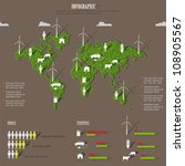 vector eco infographic... | Shutterstock .eps vector #108905567