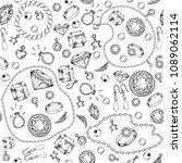 jewelry seamless pattern  hand...   Shutterstock .eps vector #1089062114