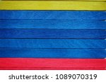 colorful wooden texture... | Shutterstock . vector #1089070319