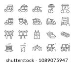food truck icon set. included... | Shutterstock .eps vector #1089075947