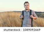 portrait of happy young man ... | Shutterstock . vector #1089092669