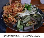 freshly sliced vegetables mix... | Shutterstock . vector #1089096629