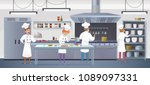 commercial kitchen with cartoon ... | Shutterstock .eps vector #1089097331