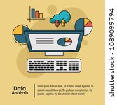 data analysis infographic | Shutterstock .eps vector #1089099794