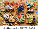 delicious homemade waffles with ... | Shutterstock . vector #1089114614