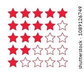 vector rating stars | Shutterstock .eps vector #1089126749