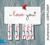 i love you   handwritten on...   Shutterstock .eps vector #108912869