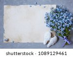 A Bouquet Of Forget Me Nots An...