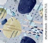 blue seamless pattern... | Shutterstock . vector #1089131711