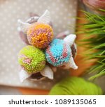 handmade knitted toys. large...   Shutterstock . vector #1089135065
