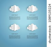 paper balloon and clouds design ... | Shutterstock .eps vector #1089135224