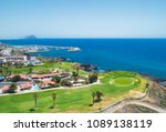 golf course and blue sea in...   Shutterstock . vector #1089138119