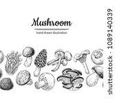 mushroom drawing vector... | Shutterstock .eps vector #1089140339