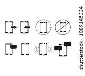 set of telephone sms icons