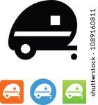 travel trailer icon | Shutterstock .eps vector #1089160811