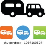 suv with camper icon | Shutterstock .eps vector #1089160829
