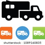 truck with trailer icon | Shutterstock .eps vector #1089160835