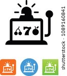 vector slot machine icon | Shutterstock .eps vector #1089160841