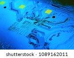 electronic circuit board close... | Shutterstock . vector #1089162011