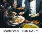 catering buffet food indoor in... | Shutterstock . vector #1089165074