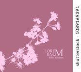 flowering branches of cherry... | Shutterstock .eps vector #1089169391
