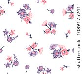 flower bouquet vector pattern... | Shutterstock .eps vector #1089175241