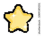 pixel sparkly star icon in the... | Shutterstock .eps vector #1089185231