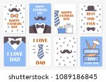 set of holiday cards for the... | Shutterstock .eps vector #1089186845