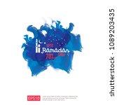 ramadan sale offer banner... | Shutterstock .eps vector #1089203435