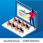 network online training | Shutterstock .eps vector #1089206441
