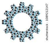 vector shipment van icons are...   Shutterstock .eps vector #1089212147