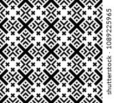 seamless pattern with ethnic... | Shutterstock .eps vector #1089225965