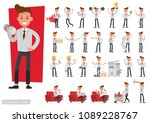 set of business people wearing... | Shutterstock .eps vector #1089228767