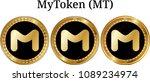 set of physical golden coin... | Shutterstock .eps vector #1089234974