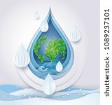 world water day  save the water ... | Shutterstock .eps vector #1089237101
