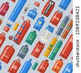 gas cylinder vector lpg gas... | Shutterstock .eps vector #1089238421