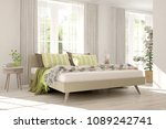 white modern bedroom.... | Shutterstock . vector #1089242741