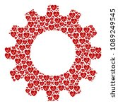 vector cardiology icons are... | Shutterstock .eps vector #1089249545