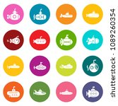 submarine icons set vector... | Shutterstock .eps vector #1089260354