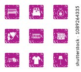 vital space icons set. grunge... | Shutterstock .eps vector #1089264335