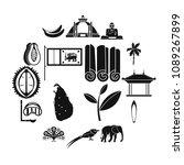sri lanka travel icons set....   Shutterstock .eps vector #1089267899