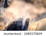 smoke bonfire trees | Shutterstock . vector #1089270839