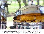 boiled corn in a pan in a... | Shutterstock . vector #1089272177