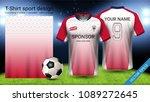 soccer jersey template  sport t ...   Shutterstock .eps vector #1089272645