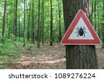 tick insect warning sign in... | Shutterstock . vector #1089276224