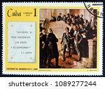 cuba   circa 1970  a stamp...   Shutterstock . vector #1089277244