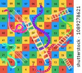 snakes and ladders game | Shutterstock .eps vector #1089278621