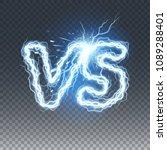 versus lightning effect  vector ... | Shutterstock .eps vector #1089288401